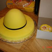 The Man In The Big Yellow Hat The man in the big yellow hat from Curious George... odd cake order, but I think it turned out good... vanilla cake, mmf