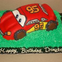 Lightning Mcqueen 3d McQueen...not the best by far, but the bday boy loved it! Had fun with this one!