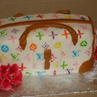 Lv Purse....my First One! First try at a purse cake....got a lot to work on next time! It was fun though!