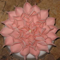 My First Gumpaste Dahlia This is my very first gum paste dahlia. I used the template by awatterson from here on CC. Thank you very much, awatterson for the great...