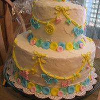 1St Stacked Cake This baby shower cake was my first ever stacked cake.