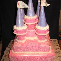 Princess Castle Cake This was made for a little girls 3rd b-day. She had a Princess party.