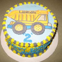 Dump Truck Birthday This cake was done for a little boy's 2nd b-day.