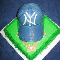 Baseball Cap   This cake was made for an end of season party.