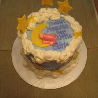 Baby On The Moon Made for a baby shower, ws inspired by cakes seen here on CC