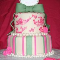 "Pink Toile Baby Shower I received an order from a woman who said, ""I trust you. You pick the design. "" Well, after questioning her about her daughter,..."