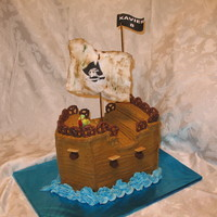 Pirate Ship Cake wish I'd had more time for detail on this one. thanks for all of the inspiration from here!