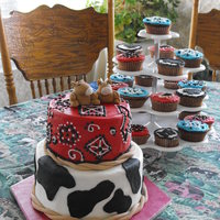 Cowboy Cake And Cupcakes
