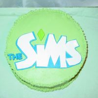 The Sims Cake Yellow B-day cake for my niece (and I) who love the video game The SIms. Crusting buttercream icing, which I was able to smooth out very...