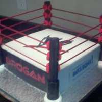 Wwe Cake Wrestling ring for a 7 year old boy!!!