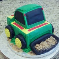 Bobcat...john Deere Colors Bobcat cake in John Deere colors