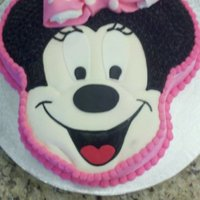 Minnie Mouse Minnie Mouse 1st birthday cake