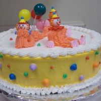 1St Time Clown Cake   1st cake I ever made. I had so much fun I decided to learn this fun and interesting art form!