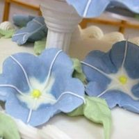 1St Royal Icing Flowers  This is the first royal icing flowers I made. My husband was amazed that I could make them after only a few weeks of Wilton classes. (So...