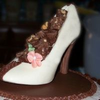 Chocolate Shoe Birthday Cake  My friend Becki loves shoes! I love chocolate! So I thought I would make her a surprise cake that she could remember! The shoe cake turned...