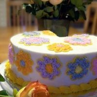 Mothers Day Cake  I thought I would make a simple cake using colors from the flowers my husband brought home. I think the simple cakes sometimes are just...