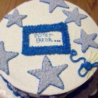 Star Cake For Pc Tech  I wanted to make a cake very quickly and needed one for a male tech. I did not want to use fondant because I needed something fast! So I...