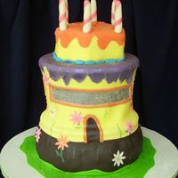 Bounce House Cake Definately a tricky party theme! Birthday girl had an Inflatable/Bounce House birthday party. Client only needed about 20 servings so I...