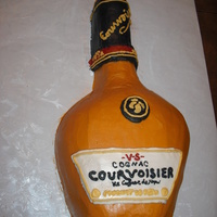Courvoisier Cognac This was a request for a 30th birthday. All buttercream. Turned out better than I had hoped!!