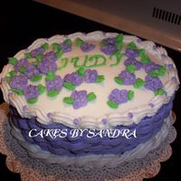 Basketweave Birthday Cake This is a chocolate cake with strawberry filling. BCI and royal iciing flowers. I made this for a lady that works with my mother.
