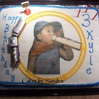 Train Theme Sheet Cake This is a half chocolate and half white sheet cake. First time to try the edible image (had it printed at local bakery). The train was...