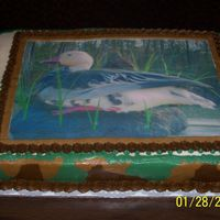 Duck Hunting All BC with edible picture. Sides are camo.