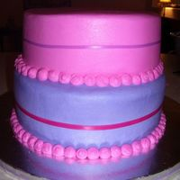 Pink Purple Cake Simple Elegant