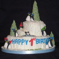 "Penguin Cake I made this cake for my grandson's first birthday. I have a tutorial on my blog. Click on ""Penguin Tutorial"" on the sidebar..."