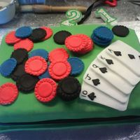 Poker Cake This is my first real effort at making a proper iced cake. I made it for my friend who is a poker fanatic and he loved it! The cake is a...