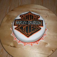 Harley Davidson Cake This is my first attempt at hand icing, i used buttercream, and i think it turned out okay. Thanks very much to all the other harley cakes...