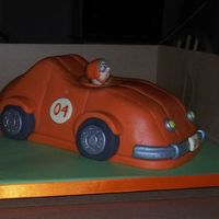 Racing Car All decorated with fondant