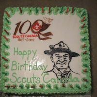 Fake Cake This cake was for a display at a cub camp for the 100th anniversary of scouting