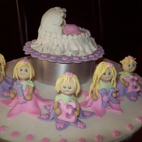 Baby Mieke Cake made for one of my friends for her little baby girl, Mieke