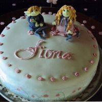 Pixie And Fairy A christening cake for Fiona