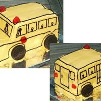 School Bus My sons's second birthday cake. He was fascinated with buses after seeing his sisters get on one for school. And again it's not...