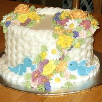 Course 2 Final This was my wilton course 2 final cake. I love doing basketweave.