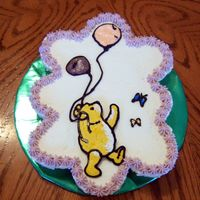 Classic Pooh Cupcake Cake Cupcake cake with Buttercream transfer Pooh.