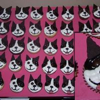 Boston Terrier Cupcakes I made these cupcakes for a Boston Terrier meetup we're going to. It's a potluck and I thought these would be fun to make. The...