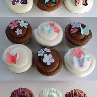 Spring Cupcakes A few variations of some cupcakes I made this weekend. The white ones are hummingbird cake with cream cheese frosting. The chocolate ones...