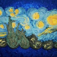 Starry Night This was a cupcake cake I made to take to my husband's work. The idea was from the book Hello, Cupcake. I was happy with it, but I...