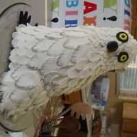 "Hedwig I made this for my husband's birthday which was a couple days before the Deathly Hallows release. It's five 6"" cakes stacked..."