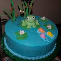 Frog Dummy cake. This was my first time doing gumpaste figures. It's definitely harder that it looks! ;) I want to try this again, but more...