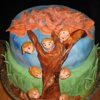 Family Tree This is a two tiered (lemon w/lemon buttercream and chocolate w/ chocolate buttercream) cake made for a family get together--where there...