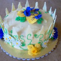 Garden Cake I cant remember what flavor this cake was, but it was for a summer garden party bridal shower. I really likes the way it turned out. The...