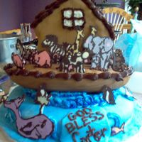 Noah's Ark This cake was so fun to make. All animals are chocolate.