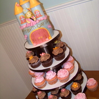 Princess Birthday   A princess themed cupcake tower for my daughter's 4th birthday.