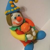 Carnival Clown made entirely out of fondant