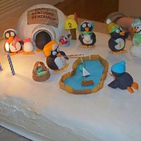 Penguin Birthday   Birthday cake for my 2 year old son. All decorations are made of fondant.