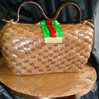 Guicci Purse cut from a 1/2 van layer cake