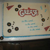 Grease Cast Party Cake